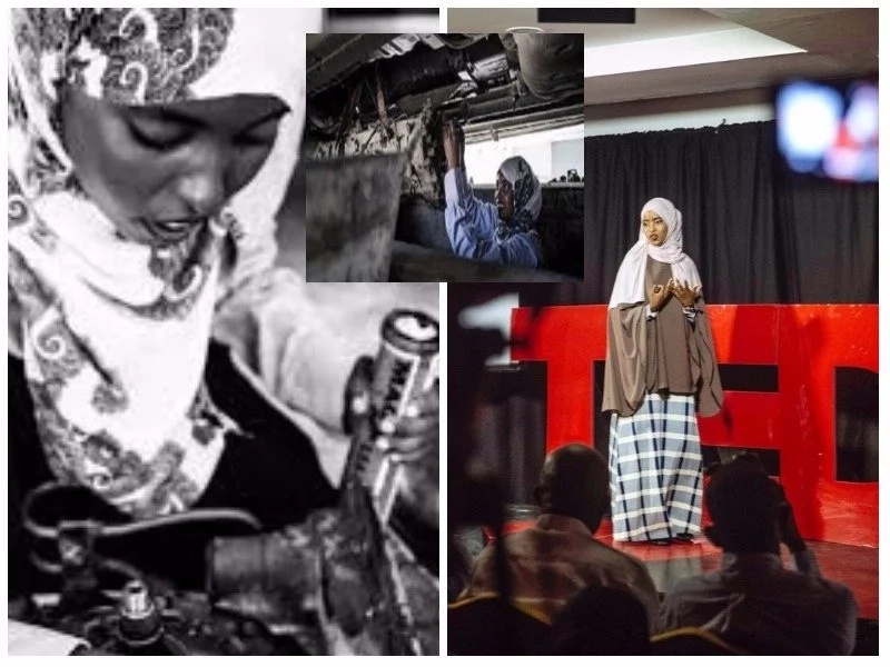 Meet beautiful 18-year-old girl who is Somalia's first female mechanic (photos)