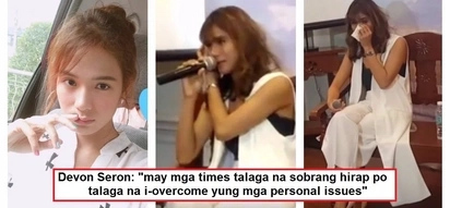 Devon Seron broke into tears while being interviewed at the press con of her Korean movie 'You With Me': 'wala akong work for a year'