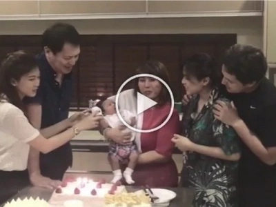 Ang saya! Baby Seve joins celebration of grandma Pinty's 60th birthday
