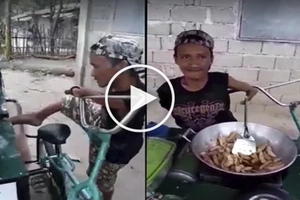 This armless fishball vendor does impossible! Watch video and tell us, how did he manage to do it?
