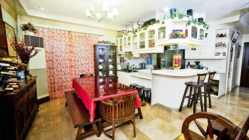 Angel Aquino's homey kitchen and dining areas