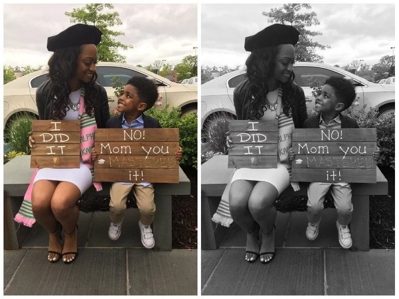 See why this graduation photo of 4-year-old toddler and his mom has inspired thousands (photos)
