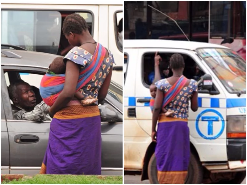 25-year-old poor woman forced to beg on streets of Uganda so as to buy pads