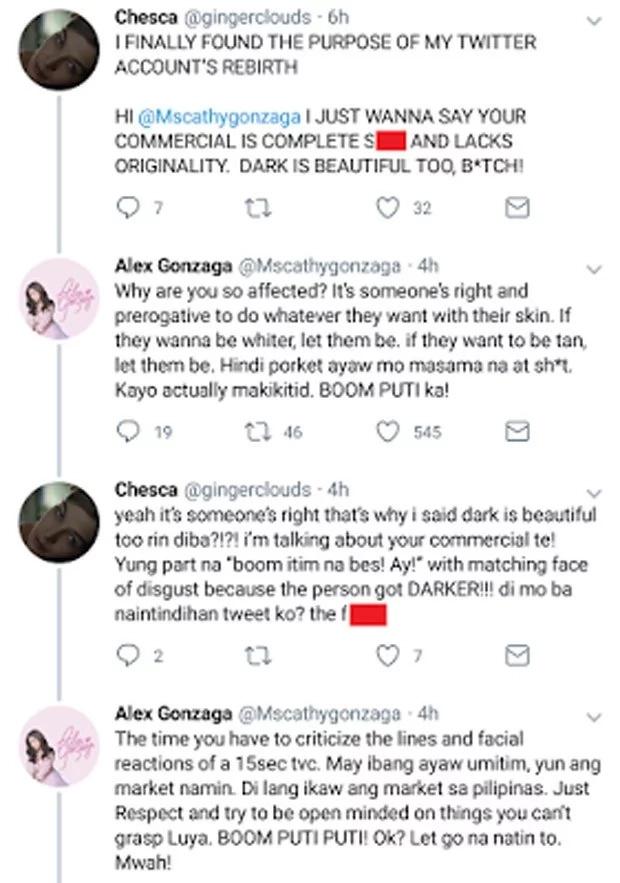 Alex Gonzaga responds haughtily to basher critique