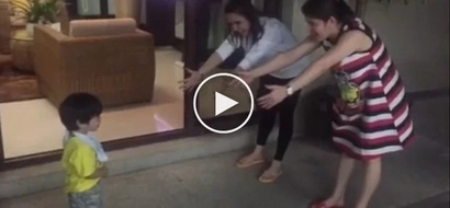 Confused son of Pacquiao doesn't know who between Jinkee and twin is his real mom