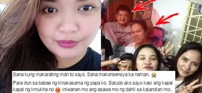 Legal daughter turns to Facebook to plead father to leave mistress and for mistress to have some shame!