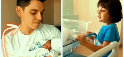 Ibang level ang ligaya! Heartwarming clips of Richard Gutierrez and Zion spending quality time with baby Kai