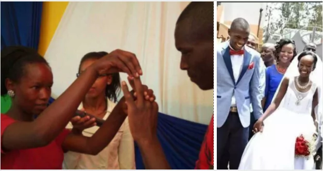 SEE what happened to couple who married with N300 (photos)