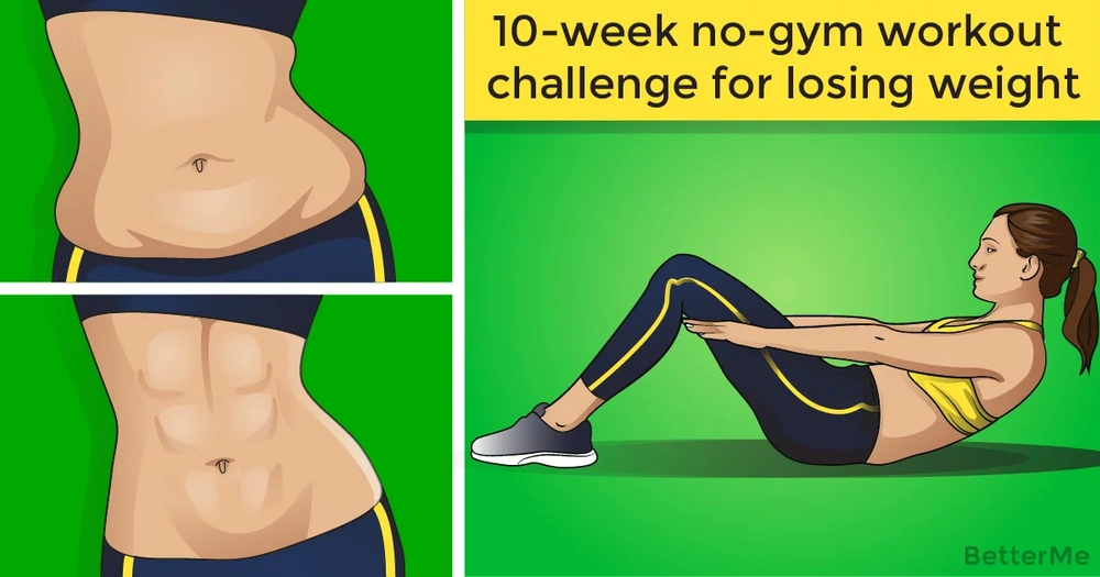 10-week no-gym workout challenge for losing weight