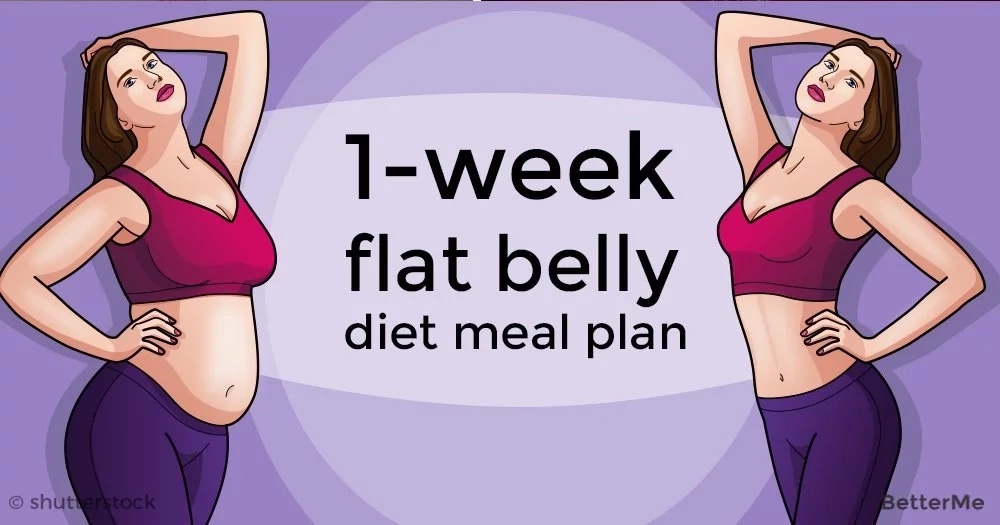 A 1-week flat belly diet meal plan