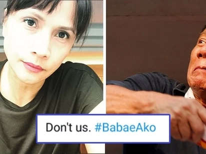 'Don't us!' Netizens back Agot Isidro in slamming Pres. Duterte's insulting comment against women