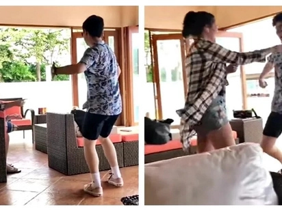 Asaran moments ng kambal! Video of Mavy trying to annoy his twin Cassy Legaspi