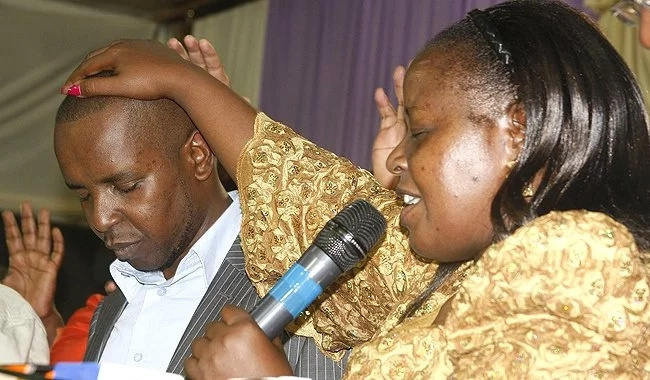 Mathare MP Steven Kariuki violently pushes elderly woman