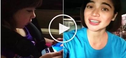 Nagandahan sa boses ng ninang! Scarlet Snow repeatedly watches video of Anne Curtis singing Happy Birthday