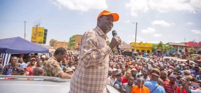Raila touches down in Mt. Kenya region and this is how he was received (photos)