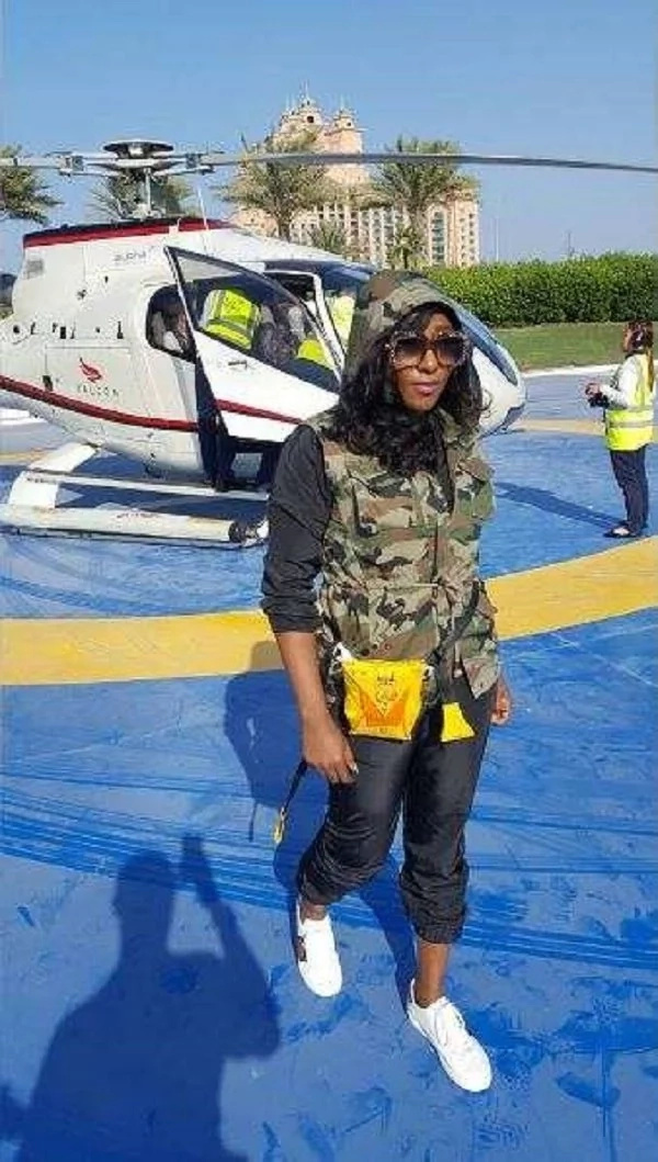 Nigeria actress Ini Edo impresses many after arriving LIKE A RICH POLITICIAN(photos)