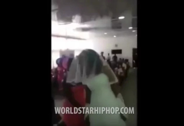 Man's Side-Chick Shows Up To His Wedding In A Wedding Dress