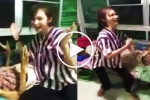 Watch this energetic teen girl entertain her sick grandmother at hospital by dancing with her!