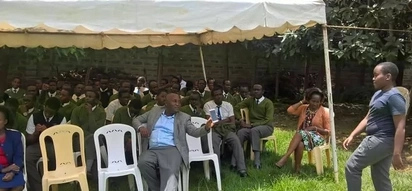 Wahome Gakuru hosted his son and colleagues from Alliance High School before they sat for KCSE (photos)