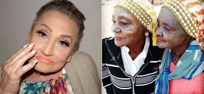 These two random granny's with make-up look hotter than you Bae