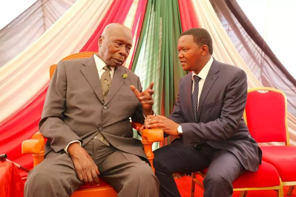 Comedian Churchill brings Nyambane and KJ to celebrate Moi's 92nd birthday