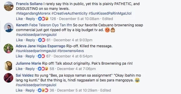 "Gaya-gaya? Netizens slam whitening product for allegedly copying a parody ad for a ""brownening soap"""