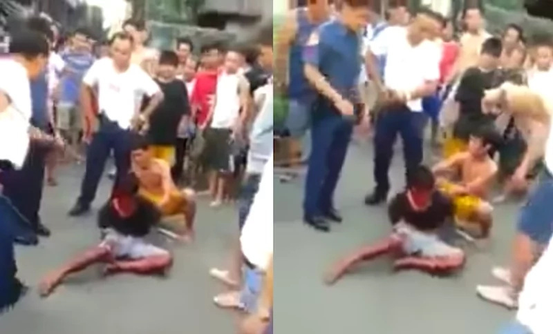 Thief caught and beaten to near death