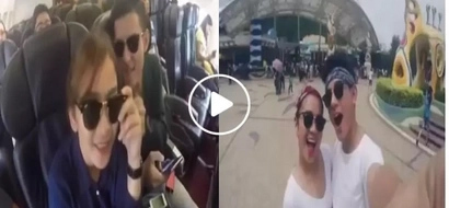Life is good when you travel with the person you love! This netizen shared a video you'd all wish to experience