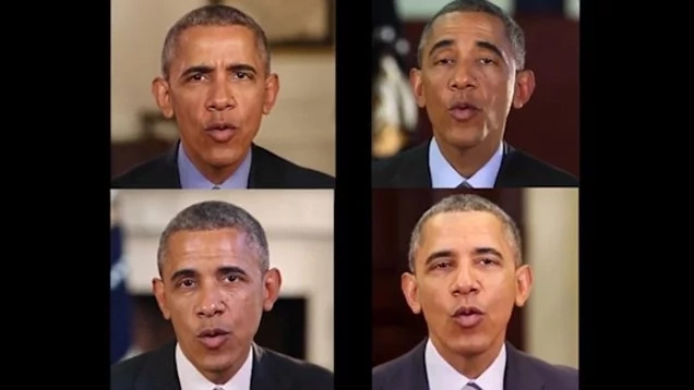 The researchers used over 14 hours of Obama's weekly address videos to teach Artificial Intelligence to create the smooth lip-syncing video. Photo: Daily Mail