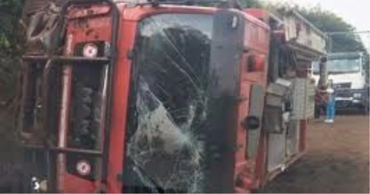 Driver who crashed fire engine confesses he lied to his boss of his whereabouts