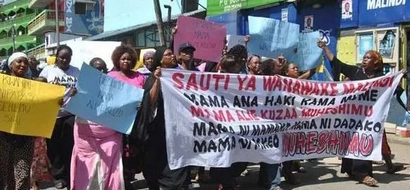 Women protest in Malindi streets over stripping of woman