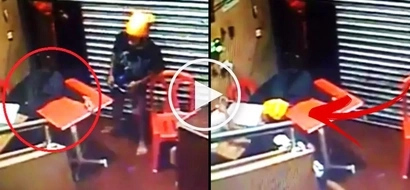 This tired Pinoy employee fell asleep on duty at a shop. What this young thief did next is terrifying!