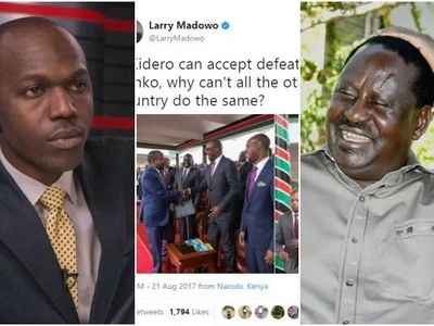 "Larry Madowo gets hard tackled online after sharing a ""peaceful"" message"