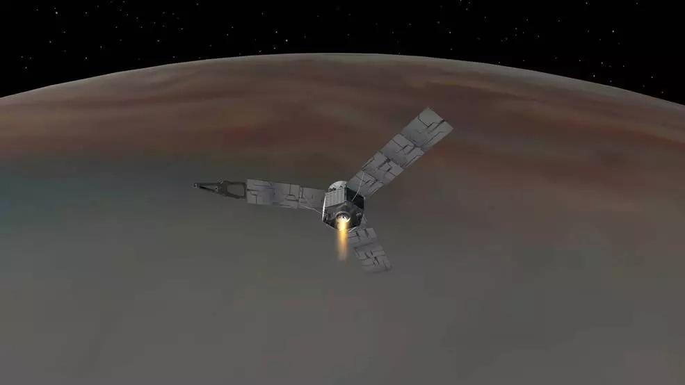 La sonda espacial Juno llegó hoy a Júpiter