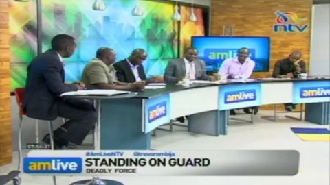 Charles Owino loses cool on live TV, almost clobbers Boniface Mwangi