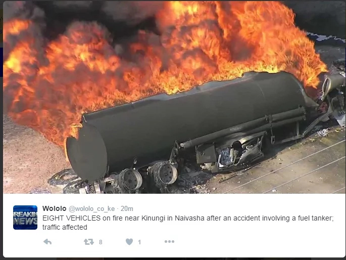 Over 30 feared dead in Kenya as gas trailer rams into vehicle