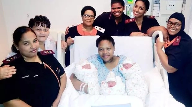 Triple bundle of joy as hospital delivers first ever set of TRIPLETS since its inception (photos)