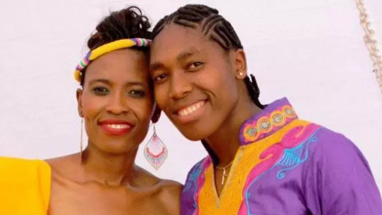 Female athlete Caster Semenya pictured in a traditional wedding with longtime girlfriend