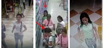 Mga walang pusong kawatan! Watch these notorious Pinay pickpockets steal P11K from an old lady at a grocery store in Tarlac