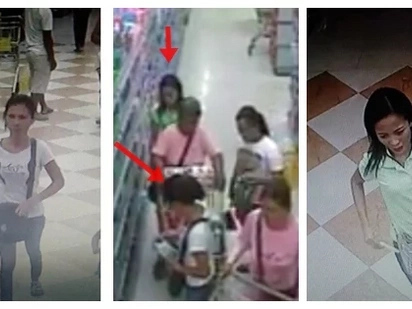 Mga walang pusong kawatan! Watch these notorious Pinay pickpockets steal P11K from an old lady at a grocery store in Tarlac