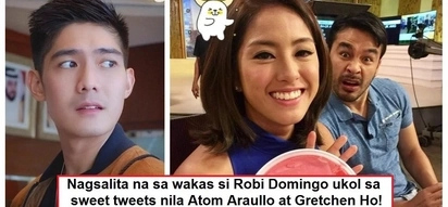 Bitter ba siya? Robi Domingo finally breaks his silence on sweet tweets between Gretchen Ho and Atom Araullo