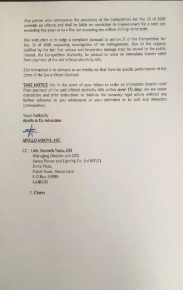 KPLC sued
