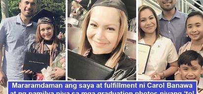 Umaapaw na kaligayahan! Graduation photos ni Carol Banawa sa US nagpapakita ng saya't tagumpay niya