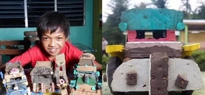 12-year-old Mangyan boy creates amazing toy cars out of old slippers to raise funds