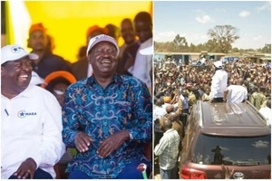 After successful rally in Eldoret, NASA receives warm welcome in Uhuru's stronghold (photos)