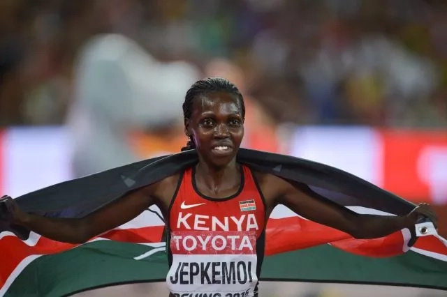 Hyvin Jepkemoi wins another medal for Kenya at the Olympics