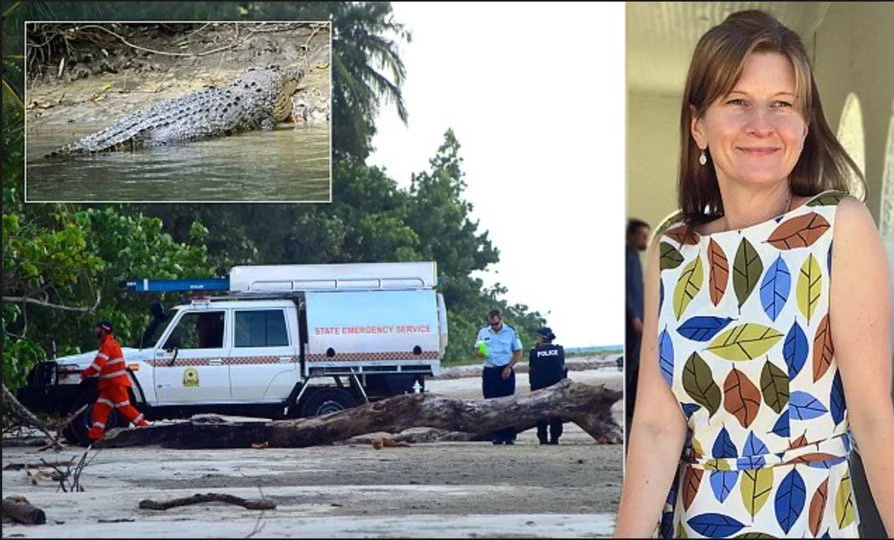Night swimming gone terribly wrong: woman gets dragged by crocodile