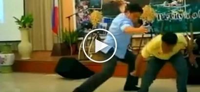 Migz Zubiri shows off his epic martial arts skills on stage in Puerto Princesa