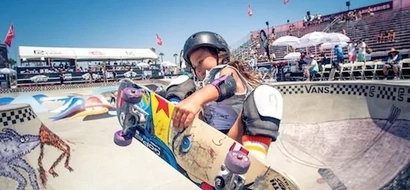 This 8-year-old skateboarder girl is blowing the internet up with her mad skills