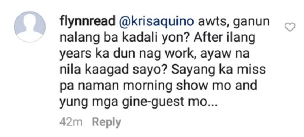 "Kris Aquino answers fans who want her to return to ABS-CBN: ""Ayaw na nila sa akin..."""